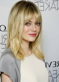 hairstyles for curly hair with bangs medium length medium length hairstyles with bangs for curly hair