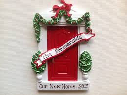 personalized christmas ornament red door new home new