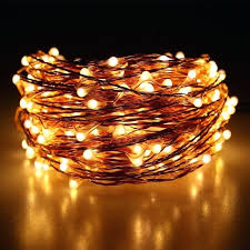 white lights string led outdoor warm copper wire starry light