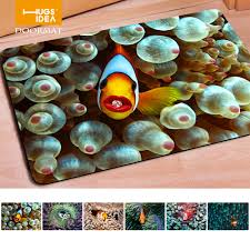 fashion welcome doormats 3d tropical fish print door mat home