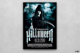halloween flyer background halloween flyer template v8 psd to customize easily