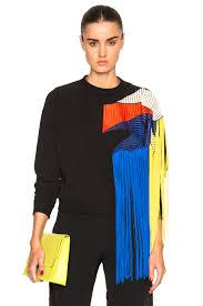 black fringe sweater christopher fringe sweater in black fwrd