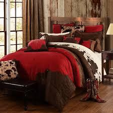 Queen Size Red Comforter Sets Red Comforter Sets Western Comforter Sets U0026 Bedding Cowboy