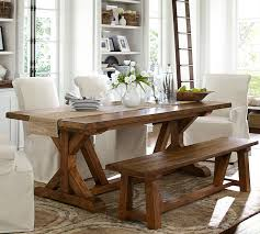 pottery barn farmhouse table wells extending dining table pottery barn for the home