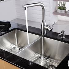 How To Install A Kohler Kitchen Faucet Stainless Steel Kitchen Sink Combination Kraususa Com