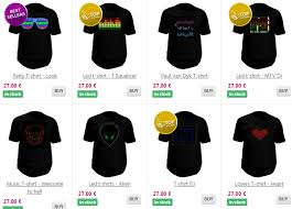 custom light up led t shirts with your design order