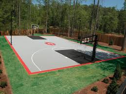 full backyard basketball court backyard courts pinterest