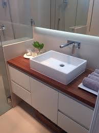 ensuite bathroom with reclaimed timber vanity top and custom