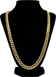 necklace case images Luxury 18k gold plated cuban link chain necklace for men gift jpg