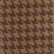 Textured Chenille Upholstery Fabric Houndstooth Wine Tan Chenille Upholstery Fabric 36203