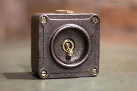 vintage industrial light switch vintage industrial 1 way crabtree light switch toggle brass cast