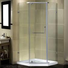 Neo Shower Door Aston Semi Frameless 38 X 38 X 77 5 Neo Angle Pivot Shower