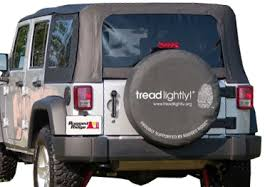 tread lightly jeep wrangler discount all things jeep 35 36 inch black tire cover tread lightly edition
