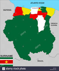 Guyana Map Suriname Map Stockfotos U0026 Suriname Map Bilder Alamy