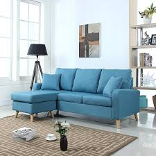 sofa with reversible chaise lounge sectional sofa with reversible chaise sky blue discount