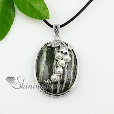 freshwater pearl necklace pendant images Oval leaf rose quartz semi precious stone freshwater pearl jpg