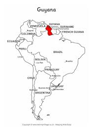 map of and south america black and white guyana on map of south america