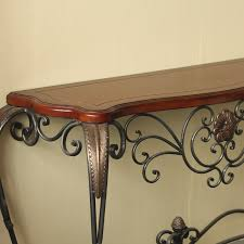 wood and iron sofa table wrought iron console table in simple style babytimeexpo furniture