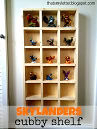 ana white skylanders cubby storage shelf diy projects
