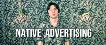 Advertising Meme - unlike interrupt advertising where ad matter is interjected into the