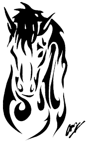 horse horseshoe tattoos page 50 clip art library