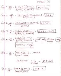 Charles Worksheet Answer Key Chem Page