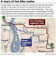 How To Draw A Route On Google Maps by Portland Cyclists Give Debut Of Google U0027s New Bike Maps Mixed