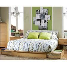 bedroom emer natural platform walnut beds living it up king