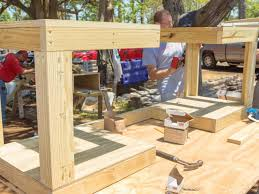 Building Outdoor Wooden Tables by How To Build A Grilling Island How Tos Diy