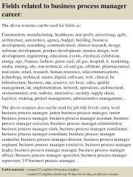 Business Management Resume Sample by Top 8 Business Process Manager Resume Samples