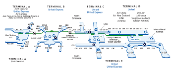 map houston airports houston intercontinental iah airport map united airlines
