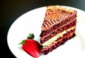 chocolate layer cake with chocolate italian meringue buttercream