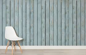 stained blue wood wall wall mural muralswallpaper co uk