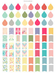 free printable planner templates free sticker printable filofax dew drops and erin condren filofax stickers free printable erin condren dew drops flags