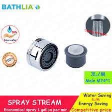Aerator On Kitchen Faucet Aliexpress Com Buy Brass Faucet Spout Water Saving Aerator