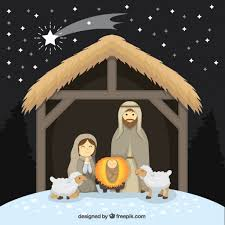 nativity pictures nativity with lovely sheep and shooting vector free