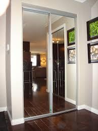 Sliding Glass Mirrored Closet Doors Beveled Glass Mirrored Closet Doors