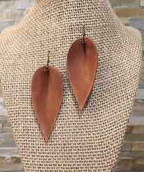 leather leaf necklace images Leather leaf earrings pointed pinch leaf earrings not jpg