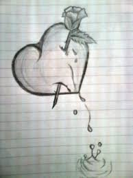 gallery best pencil sketches of heart drawing art gallery