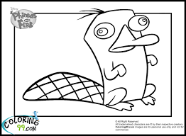 perry the platypus phineas and ferb coloring pages