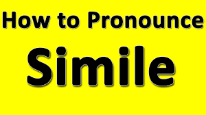 how to pronounce simile youtube