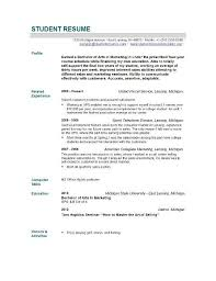 Resume Profile Examples For College Students by Objective For Resume For High Studentfree Resume Http