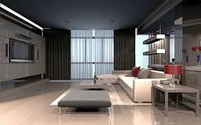 pictures living room 3d graphics high tech style room interior