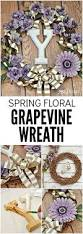 floral grapevine wreath for spring easy craft idea