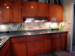 Red Kitchen Backsplash Tiles Hawaii Garden Kitchen Design U2013 Thomas Deir Honolulu Hi Artist