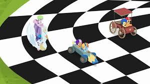 Checkered Racing Flags Image Crusaders U0027 Carts Racing On A Checkered Flag S6e14 Png My