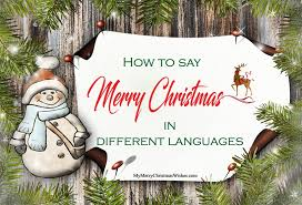 how to say merry in different languages with wishes lines