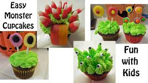 Halloween Cakes Easy To Make by Simple To Make Halloween Cute Monster Cupcakes Youtube