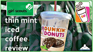 Coffee Dunkin Donut dunkin donuts皰 thin mint皰 iced coffee review scout cookie