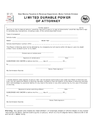 Power Of Attorney Document by New Mexico Power Of Attorney Form Free Templates In Pdf Word